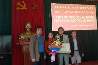 """VQG Phong Nha – Kẻ Bàng: đạt giải Ba – vòng sơ khảo cuộc thi """"Viết về người lao động - Viết cho người lao động"""""""